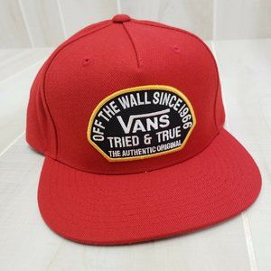 VANS Men's Hat Snapback Red Authentic OG Logo Skat